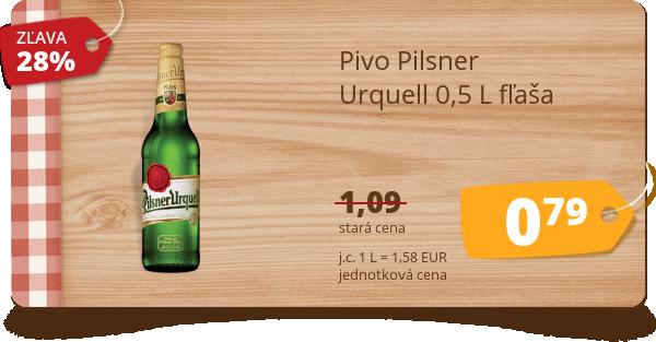 Pivo Pilsner  Urquell 0,5 L fľaša