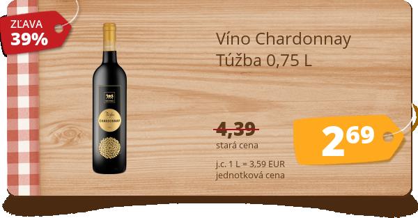 Víno Chardonnay  Túžba 0,75 L