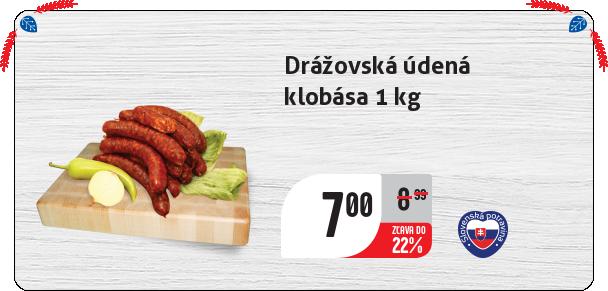 Drážovská údená klobása 1 kg