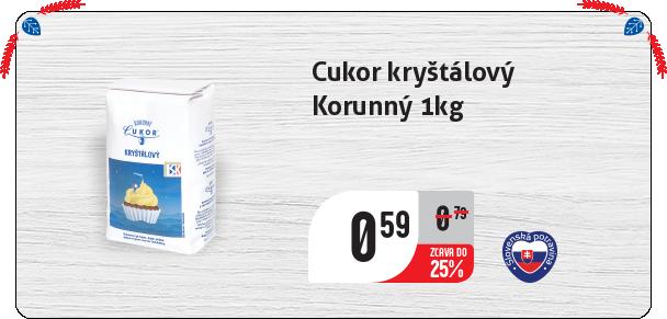Cukor kryštálový Korunný 1kg